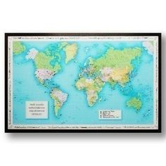 £59.99 Lose yourself with a personalised world #traveller map | The Personalised Gift Shop