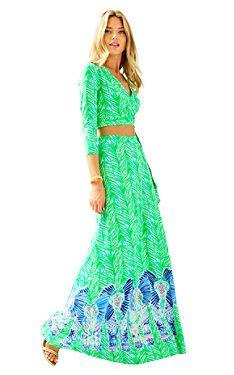 Ruari Crop Top & Maxi Skirt Set   25796   Lilly Pulitzer