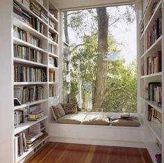 I love this little reading nook!