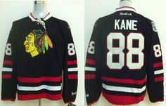 6ba64a162 2014 NHL Chicago Blackhawks 88  Patrick Kane Black Venues Jerseys