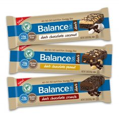 NEW Balance Bar Dark Chocolate Energy Bars are a nutritious and eco-friendly way to snack. Win a prize package with all the new flavors! #Giveaway ends 4/30 Food Packaging Design, Snack Bar, Shops, Diet And Nutrition, Vegetable Nutrition, Chocolate Crunch, Chocolate Peanuts, Printable Coupons, Wound Healing