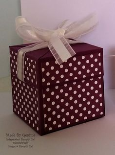 Stampin'Up! pop up gift box by gemma @ made by gemma crafts
