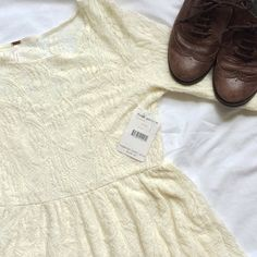 NWT Free People Cream Lace Dress Free People cream lace mid-length sleeve dress. Never been worn before. More pictures to come  Free People Dresses