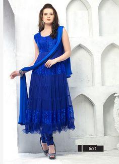 Thayari.com Blue Color Designer Blue Anarkali Suits