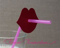 Girls Night Party? Lips Straw Decorations Set of 20 lips and 20 by AlmostAmsterdam, €12.00
