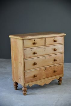 Antique Pine Chest Of Drawers - Antiques Atlas Drawers, Pine Furniture, Large Items, Pine Chests, Pine, Solid Pine, Chest, Chest Of Drawers, Furniture Design