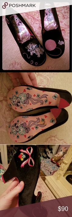 Irregular Choice Fuzzy Peg black cat heels NwB EU38 Irregular Choice Shoes Heels