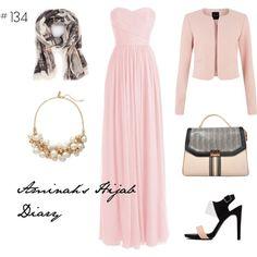 http://aminahshijabdiary.wordpress.com/ #hijab #muslimah #modestfashion #fashion #style #outfit #look #ootd #dress #pink #black
