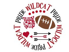 Excited to share this item from my shop: Wildcat Pride Football SVG Cheer Mom Shirts, School Spirit Shirts, School Shirts, Cross Country Shirts, Spirit Store, Pendleton Shirts, Sport Craft, Cricut Vinyl, Me Time