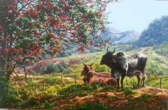 Moose Art, Landscapes, Animals, Bullock Cart, Farms, Hillbilly, Beautiful Paintings, Beautiful Images, Pen And Wash