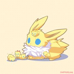 Joltik and Jolteon