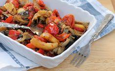 TEGLIA+DI+VERDURE+AL+FORNO+ricetta+contorno+saporito