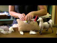 Needle Felting Tutorial - Sarafina Fiber Art Goat Series 7: Face - YouTube
