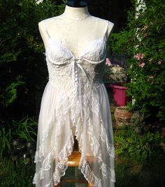 2 Piece Exoctic Burlesque White Princess Fredericks of Hollywood Wedding Night Lingerie. $64.00, via Etsy.