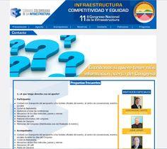 Pagina web del 11 congreso nacional de la infraestructura, el congreso mas grande de Colombia: http://www.infraestructura.org.co/11congreso
