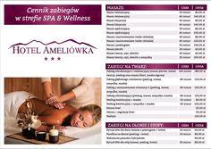 Hotel Ameliówka zaprasza do gabinetu masażu w strefie SPA&Wellnes na relaksujące zabiegi na twarz i ciało, zachęcamy do udziału w rytuale stóp i dłoni przy świetle świec i kojących dźwiękach muzyki. Nasze niezastąpione masażystki oraz kosmetyczki zadbają nie tylko o dobrą atmosferę, lecz także o skuteczność i długotrwałe działanie zabiegów, które dla Państwa wykonują.