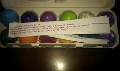 Resurrection eggs instructions and print out