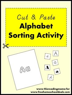 Free Cut & Paste Alphabet Sorting Activity ~ sort letters of the alphabet by their fonts and styles | Free Homeschool Deals
