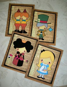 I just grabbed these of off etsy for the nursery!  (Alice in Wonderland along with her friends by PaintedByRenee)