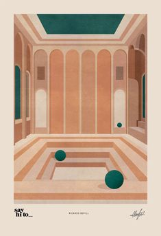 British illustrator, Charlotte Taylor, translates the work of Spanish Architect, Ricardo Bofill, in a series of four illustrations.