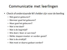 communicatie met leerlingen