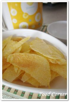 Potato chips in the microwave--will have to try this!