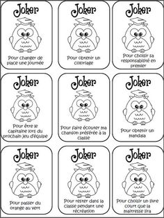 Classroom tips & tricks, resources and teaching ideas for the primary French classroom - immersion or French first-language Classroom Organisation, Classroom Management, School Organization, Behaviour Chart, Behavior, Joker, School Life, Back To School, Star Of The Week