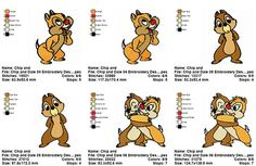 3 Chip and Dale 02 Embroidery Designs  Embroidery Machine