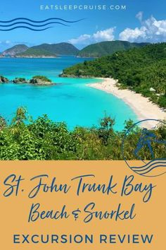 Are you dreaming of a Caribbean cruise getaway? We recently visit St. Thomas on a cruise and took a ride over to St. John for the day. Here we share our review of the St. John Trunk Bay Beach and Snorkel shore excursion through Royal Caribbean. There are many things to do while visiting the USVI but this is a great option even with kids. Check out this post and you'll be ready to book as soon as cruising resumes. #USVI #StJohn #TrunkBay #CaribbeanVacation #CruiseVacation #Excursion Bermuda Vacations, Bahamas Vacation, Cruise Vacation, Southern Caribbean Cruise, Caribbean Vacations, Royal Caribbean, Cruise Excursions, Cruise Destinations, Shore Excursions