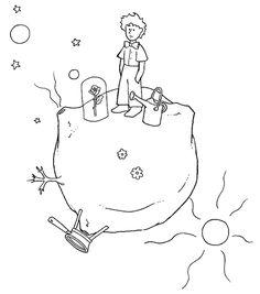 Pequeno Principe No Seu Planeta Colorir The Little PrinceRomancesBaby