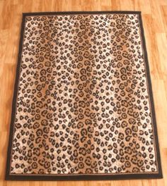 Hollywood Love Rugs   Leopard Print Area Rug, $49.00 (http://www
