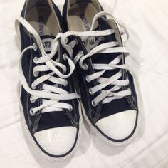 Black converse In good condition I take care of my shoes so they're clean and nice Converse Shoes Sneakers