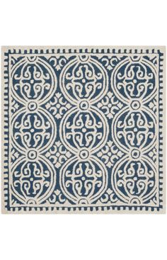 -comes in extra long length for stair runner $5 Off when you share! Safavieh Cambridge CAM123A Navy Blue Ivory Rug #RugsUSA