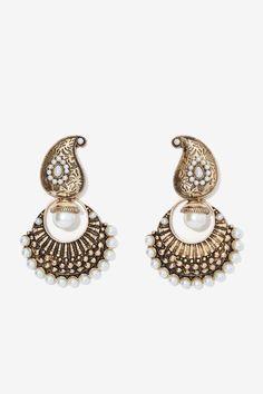Celia Pearl Earrings - Earrings | Gold