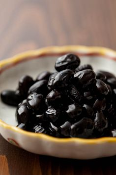 Japanese black beans -kuromame-eaten especially at New Year's