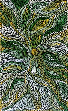 Dulcie Pula Long ~ Bush Medicine Leaves, 2013 Basically I'm obsessed with her paintings and will never rest until I have one. Aboriginal Painting, Aboriginal Artists, Dot Painting, Encaustic Painting, Indigenous Australian Art, Indigenous Art, Australian Artists, Aboriginal Culture, Native Art