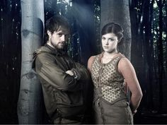 Jonas Armstrong as Robin Hood and Lucy Griffiths as Lady Marian