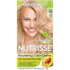 Garnier Nutrisse Nourishing Hair Color Creme Blondes 72 Dark