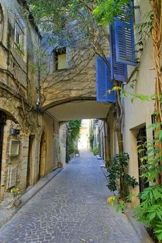 There are few things more romantic than ivy-dappled tunnels on the French Riviera. Why? No idea.