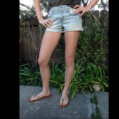 Cutoff Ralph-Lauren Denim Shorts! Cutoff denim shorts with bleaching on the pockets. Worn very few times!! Open to negotiations and trades ;) Ralph Lauren Shorts Jean Shorts