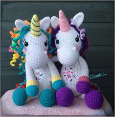 Unicorns #amigurumi #crochet