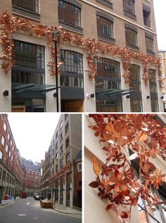 by Tord Boontje, cooper installation on Kean Street in Covent Garden, London