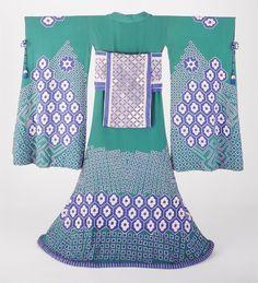 Woman's Kimono Costume Ensemble  designed by Erte in France in 1923. I had no idea Erte designed any Orientalist kimonos. LACMA Collections