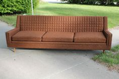 Vintage Mid Century/Modern Sofa  Chocolate by 5thAvenueThrift, $1099.95