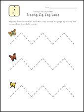 zig zag lines worksheet