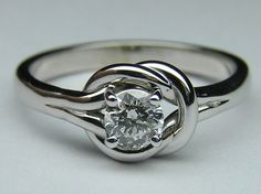 Love Knot Solitaire Engagement Ring