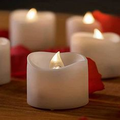 """$15.99 w/free Prime shipping 12 Battery Operated Candles - White Bright Flickering Flameless Tea Lights Bonus Bulk Faux Rose Petals - LED Candle for Wedding Gift Votive Holder, Electric Warmer - 1.4""""x1.4"""" Best in Quality By Mars. Mars http://smile.amazon.com/dp/B00SYH4RUK/ref=cm_sw_r_pi_dp_pOh1vb00FNHAJ"""