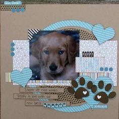 Resultado de imagem para new puppy scrapbook page ideas
