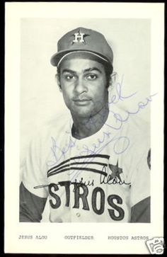 jesus alou baseball card | JESUS ALOU SIGNED 1971 HOUSTON ASTROS POSTCARD JAY