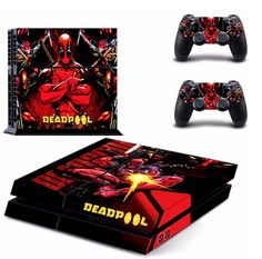 hot sales 1bed0 de779 Lucky Store New Skins Stickers of DeadPool Designed Sticker Decals for Sony  PlayStation 4 Console and 2 Controller Skins Covers